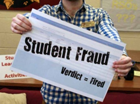 Fraud Equals Fired: FSU students have been caught falsifying their work hours, resulting in termination from their campus jobs.  Notice: The above photo does not reflect the actions of students in the article, it is a staged photo for publishing purposes only. Photo Illustration by: Kate Dupon | Photo Editor