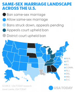 Gay Marriage United States Map.Supreme Court Takes On Gay Marriage The Ferris State Torch