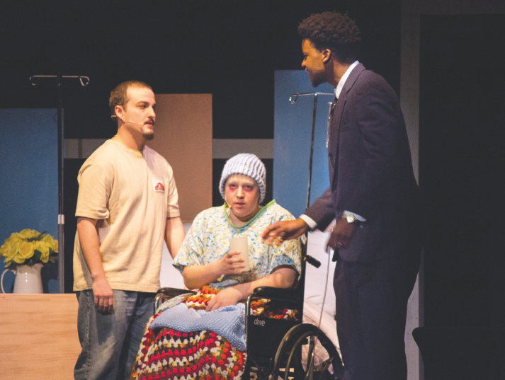 "Ferris students took the stage to perform ""Infinite Black Suitcase,"" by EM Lewis, a play that portrays death and dealing with grief over the course of one day in a small town in Oregon."